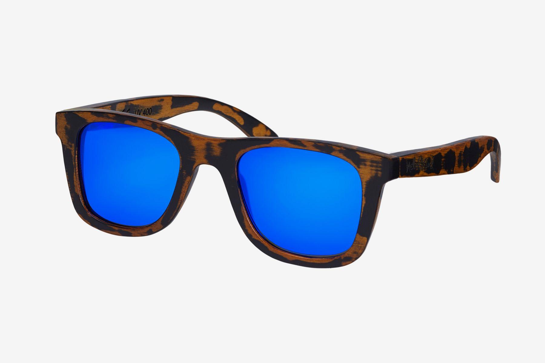 Bamboobastic nature (light blue mirrored) Sunglasses in
